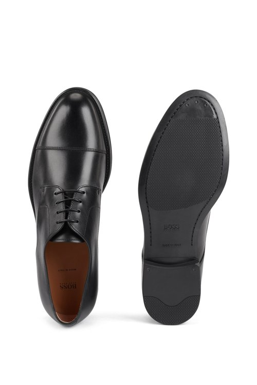 Hugo Boss - Derby shoes in burnished calf leather - 5
