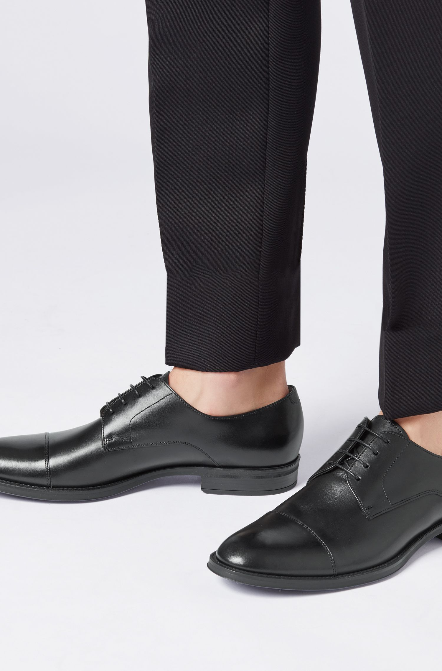 Hugo Boss - Derby shoes in burnished calf leather - 4