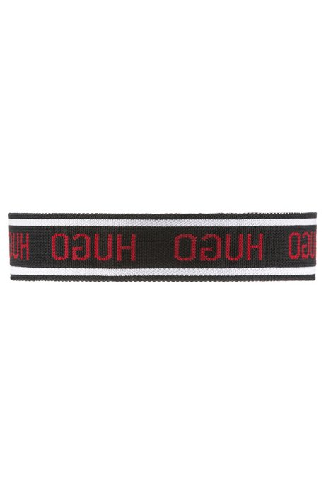 Unisex logo headband in knitted jacquard, Black