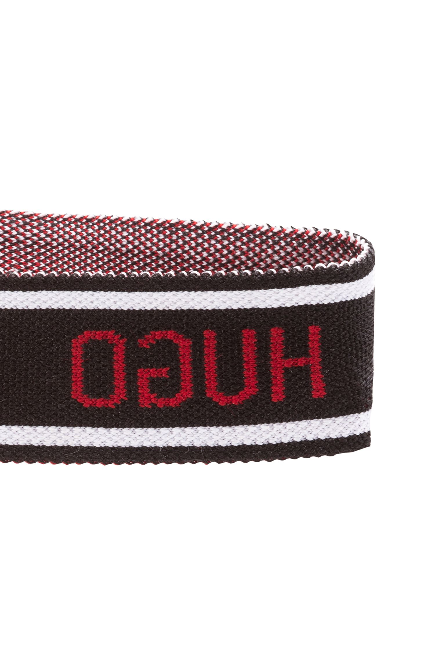 Unisex logo headband in knitted jacquard, Black