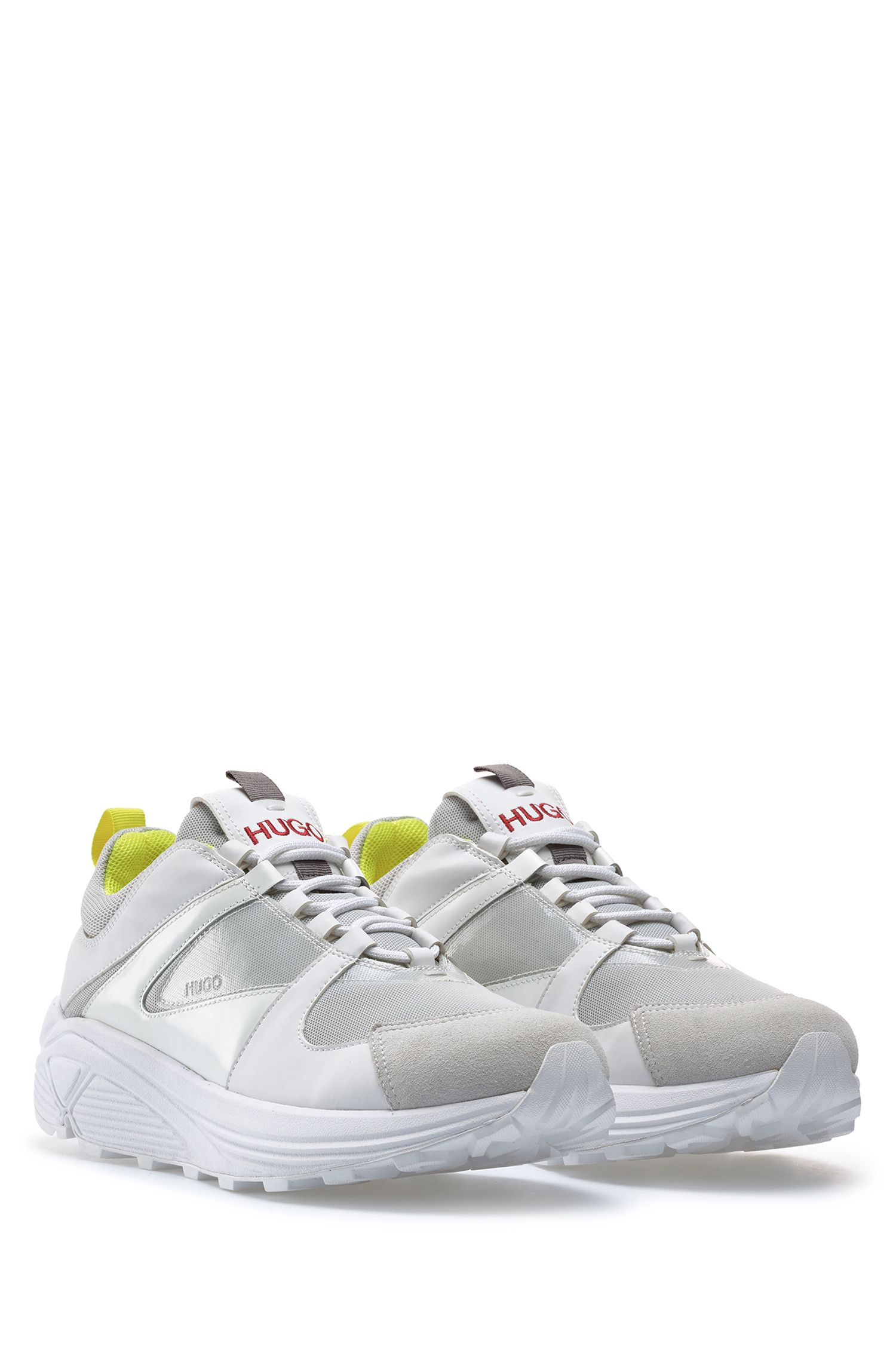 Running-inspired hybrid trainers with Vibram sole, White