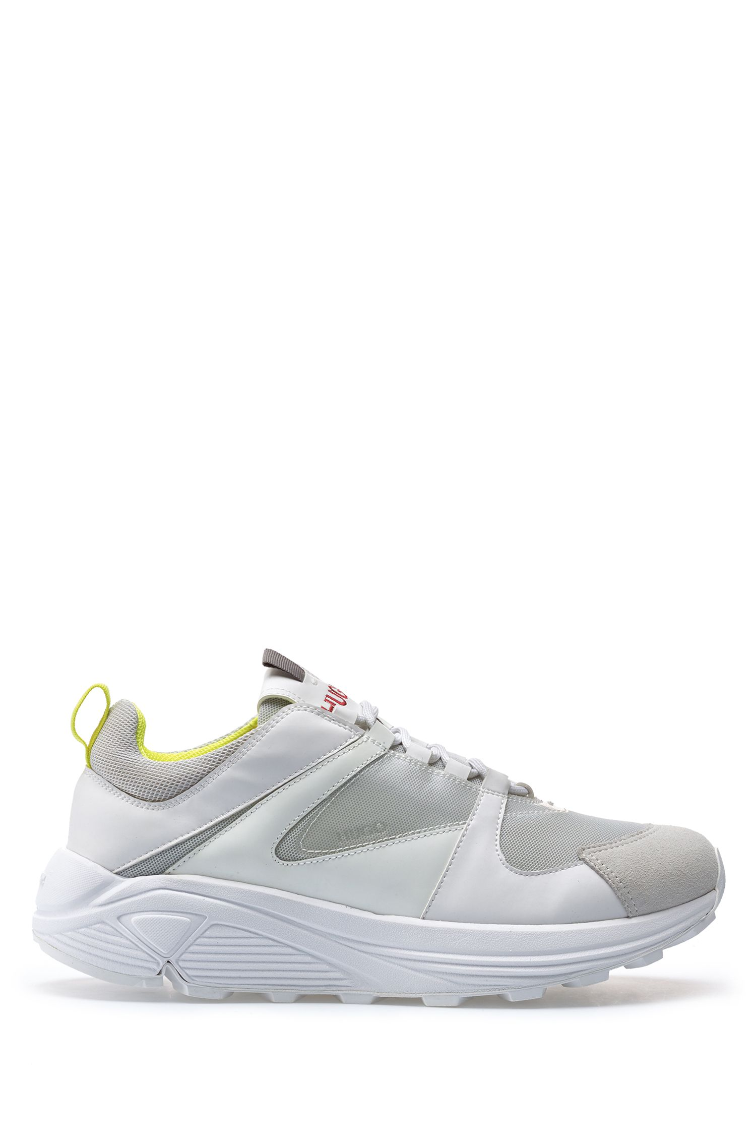 Hybride sneakers in hardloopstijl met Vibram-zool, Wit