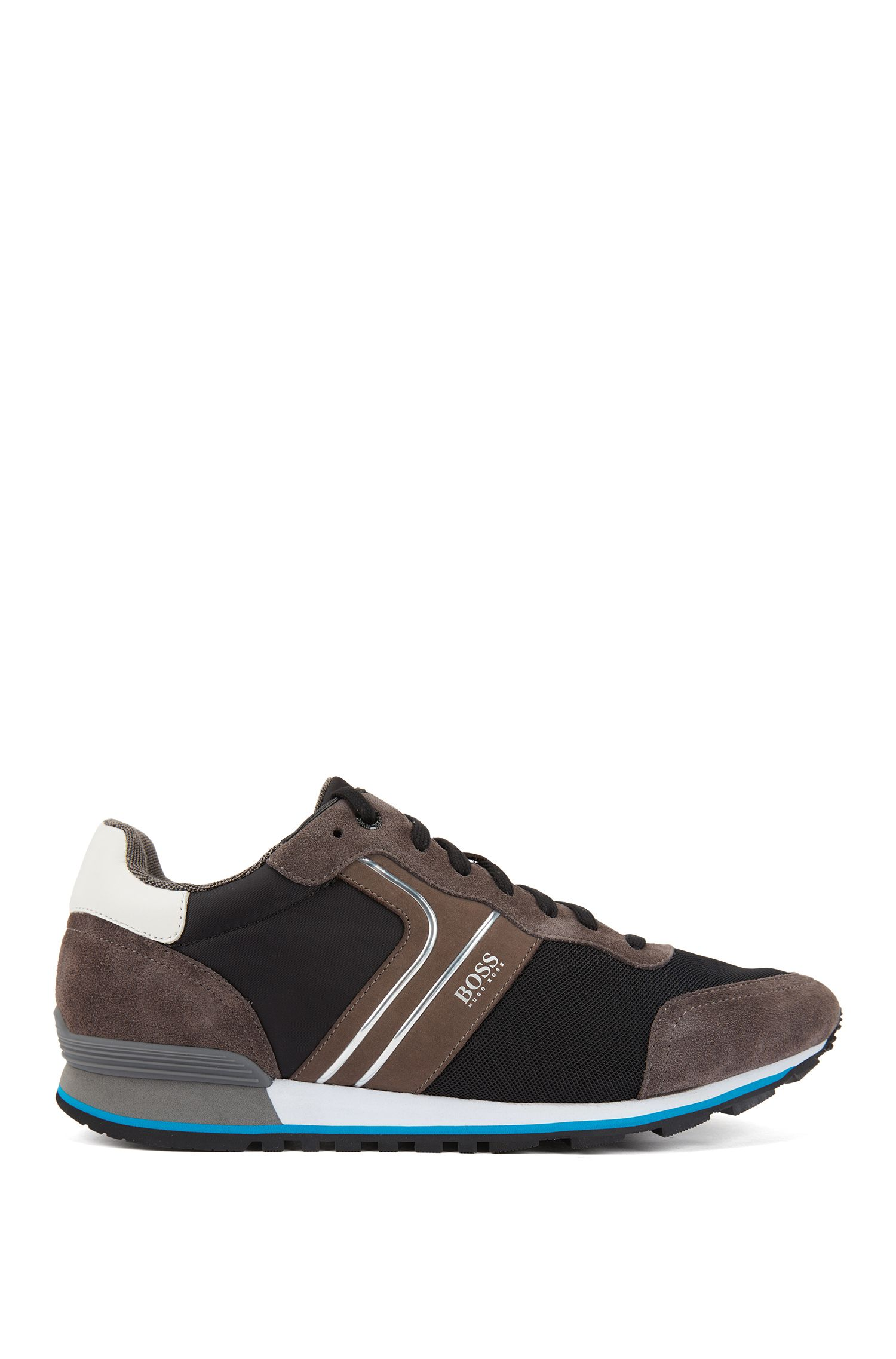 Running-inspired hybrid trainers with bamboo-charcoal lining, Grey