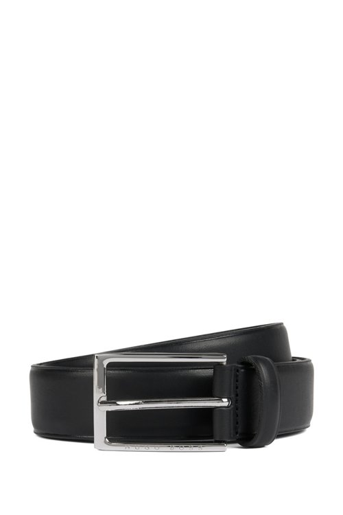Hugo Boss - Pin-buckle belt in leather with heat-embossed detailing - 1