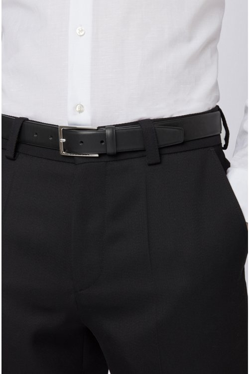 Hugo Boss - Pin-buckle belt in leather with heat-embossed detailing - 4
