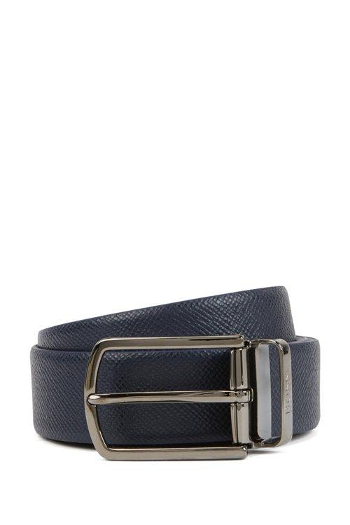 Hugo Boss - Cinturón reversible de piel Travel Line con hebilla desmontable - 1