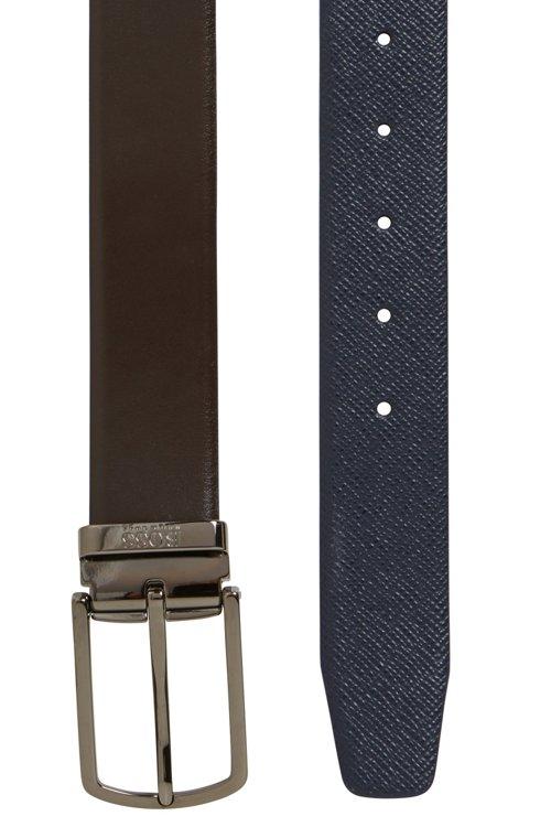 Hugo Boss - Cinturón reversible de piel Travel Line con hebilla desmontable - 3