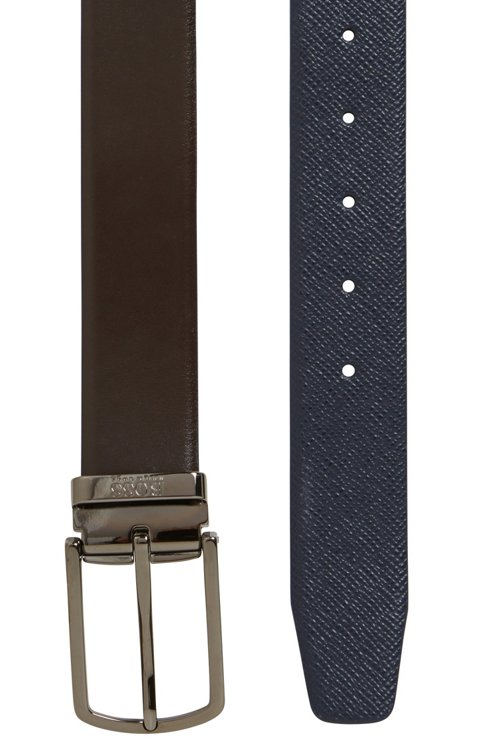 Hugo Boss - Travel Line reversible leather belt with detachable buckle - 3