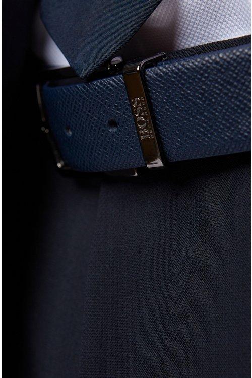 Hugo Boss - Cinturón reversible de piel Travel Line con hebilla desmontable - 4