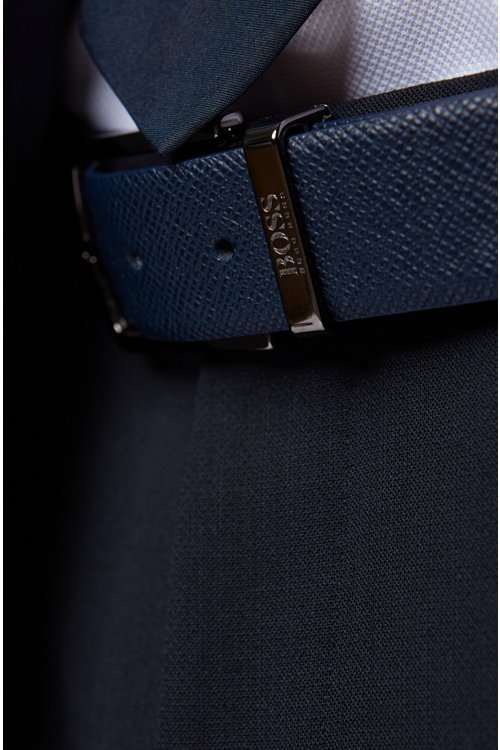 Hugo Boss - Travel Line reversible leather belt with detachable buckle - 4