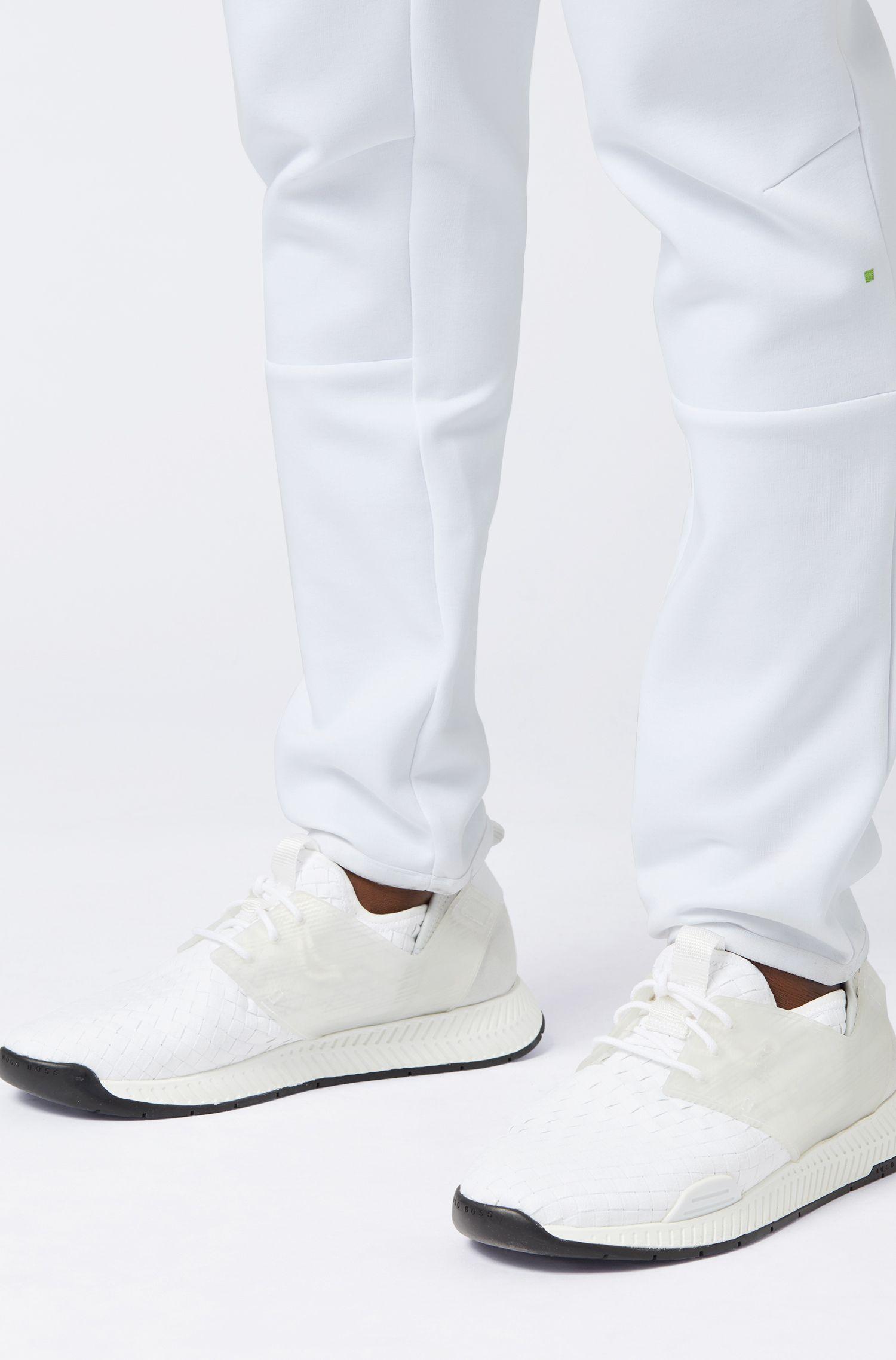 Hybrid-Sneakers im Laufschuh-Stil mit EVA- und Gummisohle, Weiß