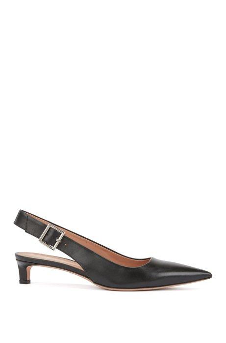 f41049e69a8 BOSS - Pointed-toe slingback pumps in Italian calf leather