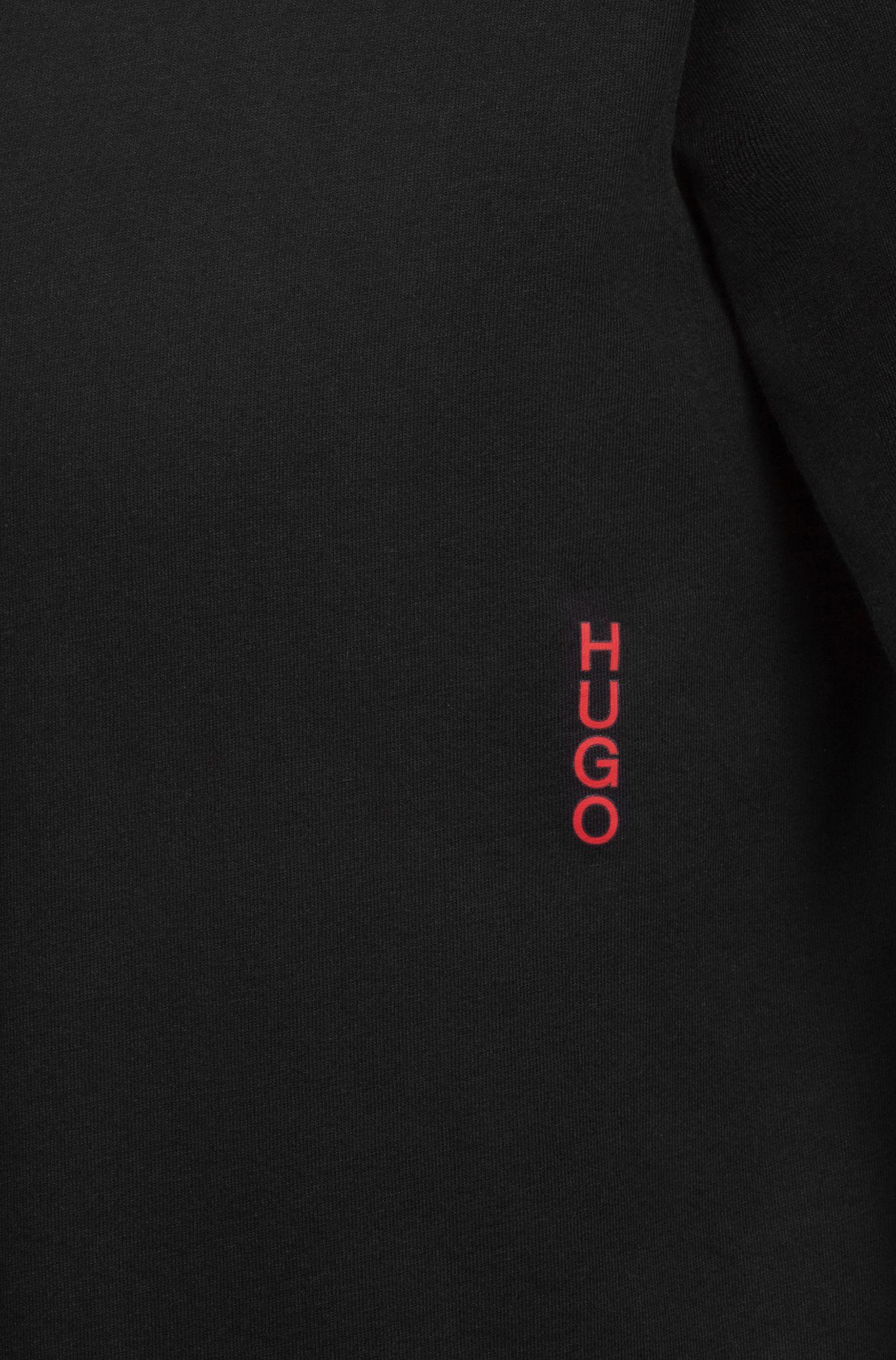 Zwei Bodywear-T-Shirts aus Baumwolle mit vertikalem Logo, Schwarz