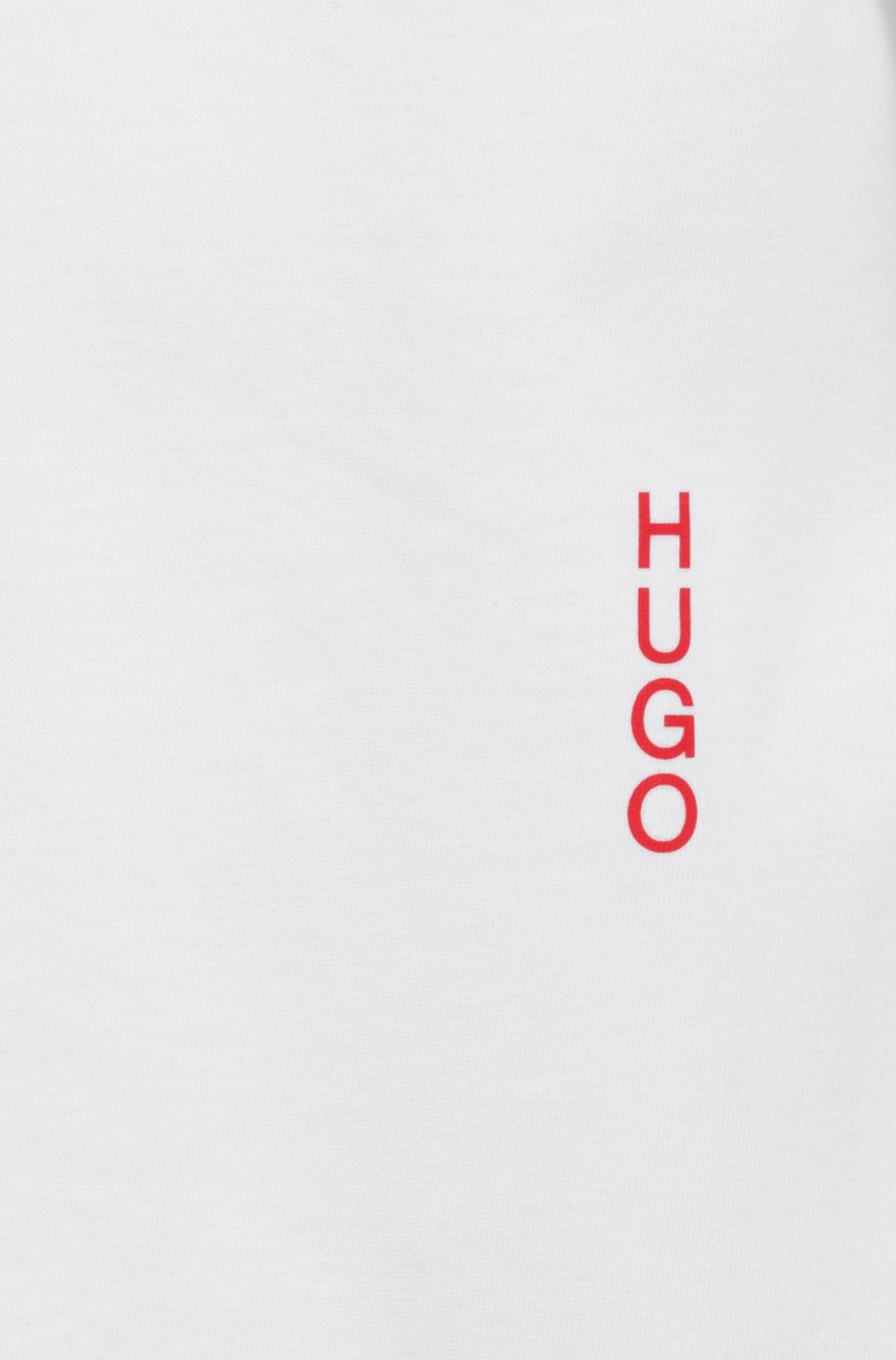 Twee katoenen loungewear-T-shirts met verticaal logo, Wit