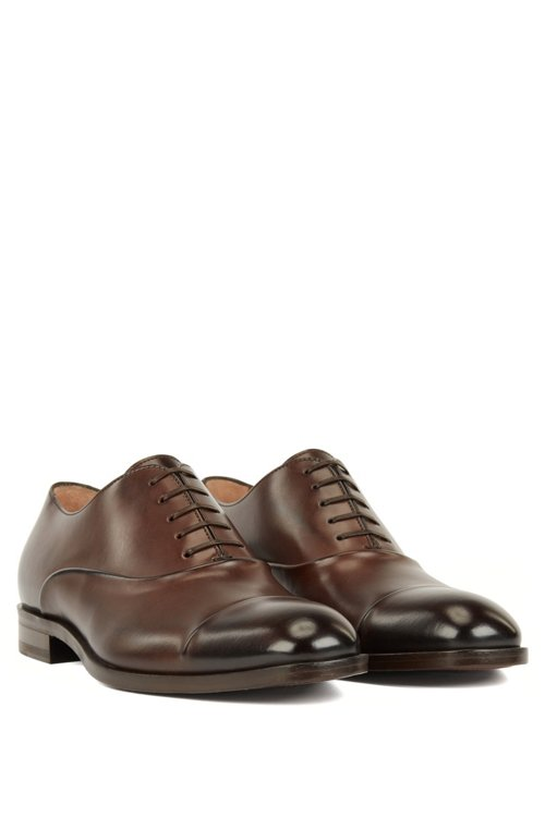 Hugo Boss - Italian-made Oxford shoes in vegetable-tanned calf leather - 2