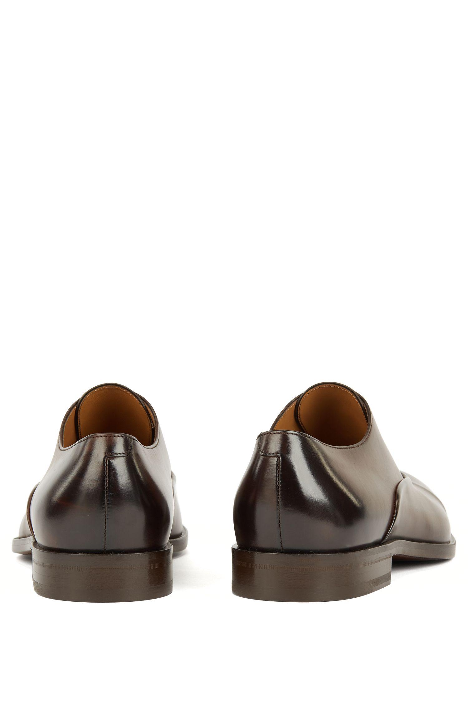 Hugo Boss - Zapatos Oxford elaborados en Italia en piel de becerro de curtido vegetal - 6