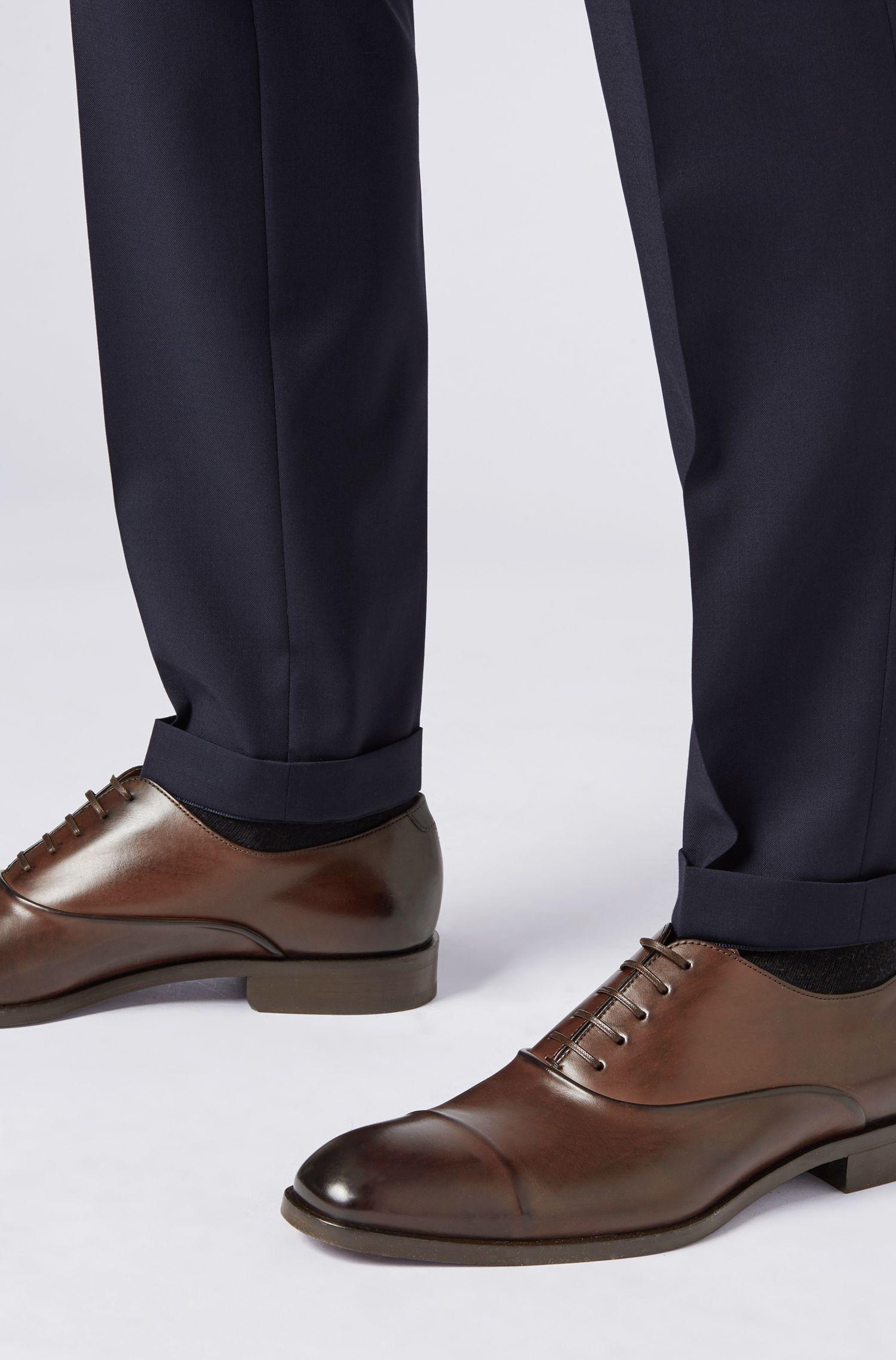 Hugo Boss - Zapatos Oxford elaborados en Italia en piel de becerro de curtido vegetal - 4