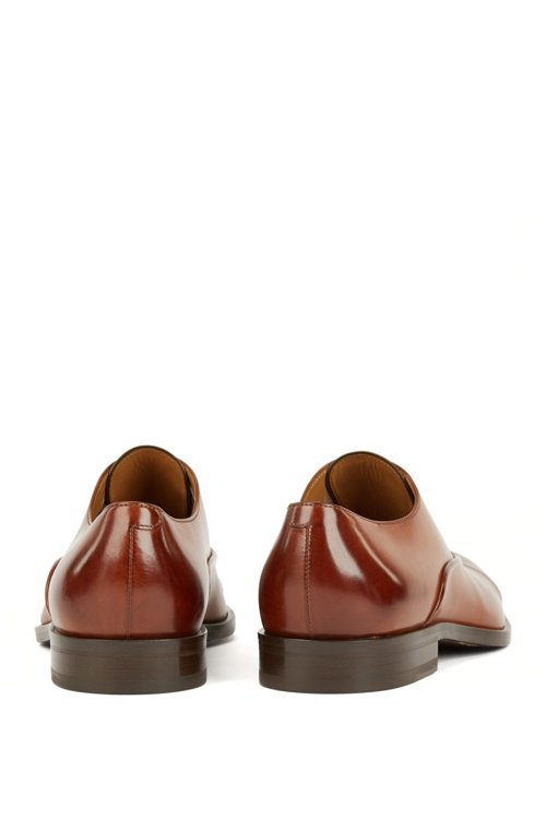 Hugo Boss - Italian-made Oxford shoes in vegetable-tanned calf leather - 5