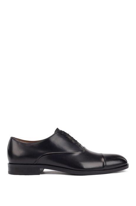 In Italien gefertigte Oxford-Schuhe aus pflanzlich gegerbtem Leder, Dunkelblau