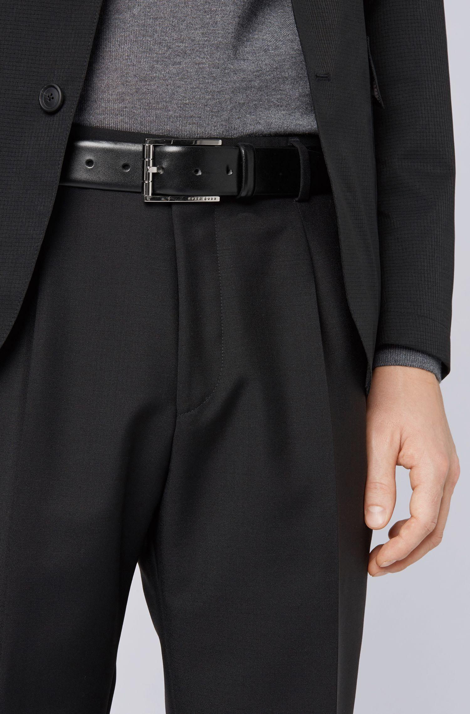 Hugo Boss - Gürtel aus italienischem Leder mit polierter Rollschließe - 4