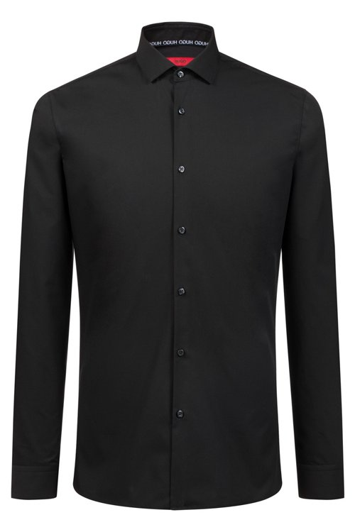 Hugo Boss - Extra-slim-fit cotton shirt with easy-iron finishing - 1