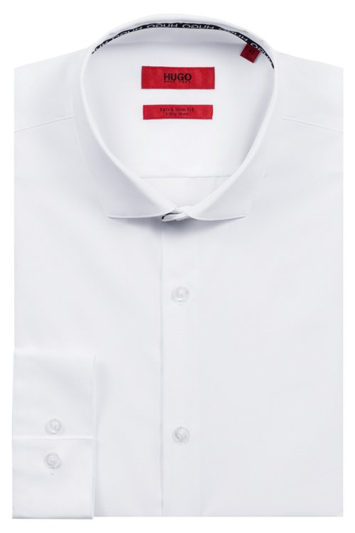 Hugo Boss - Extra-slim-fit cotton shirt with easy-iron finishing - 5