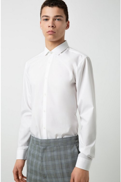 Hugo Boss - Extra-slim-fit cotton shirt with easy-iron finishing - 3