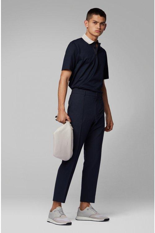 Hugo Boss - Polo à col contrastant en jersey de coton brillant - 2