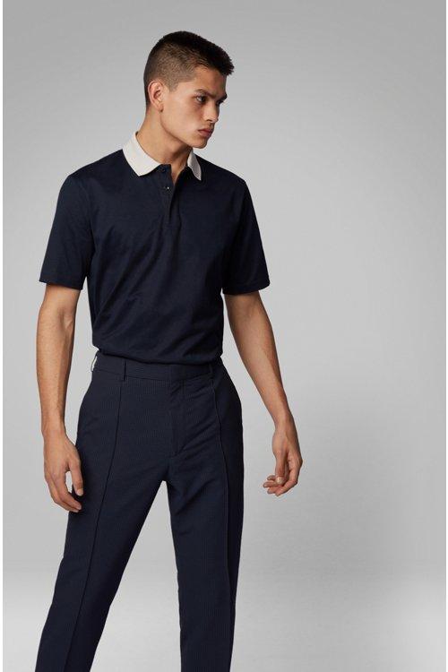 Hugo Boss - Polo à col contrastant en jersey de coton brillant - 3