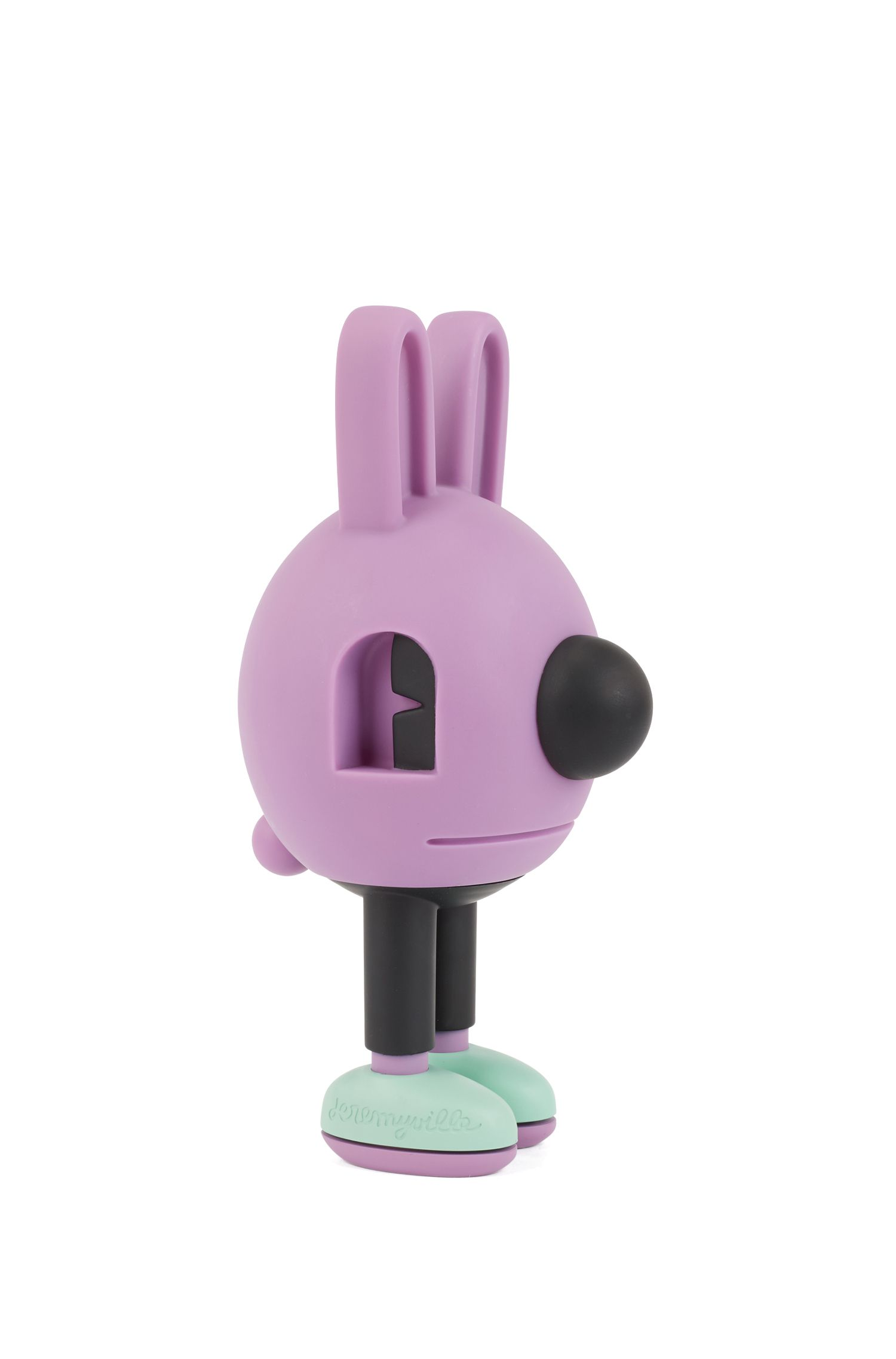 Colourful Jeremyville bunny figurine , Patterned
