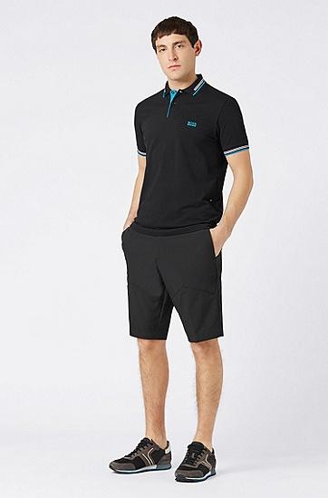 男士休闲时尚短裤,  001_黑色