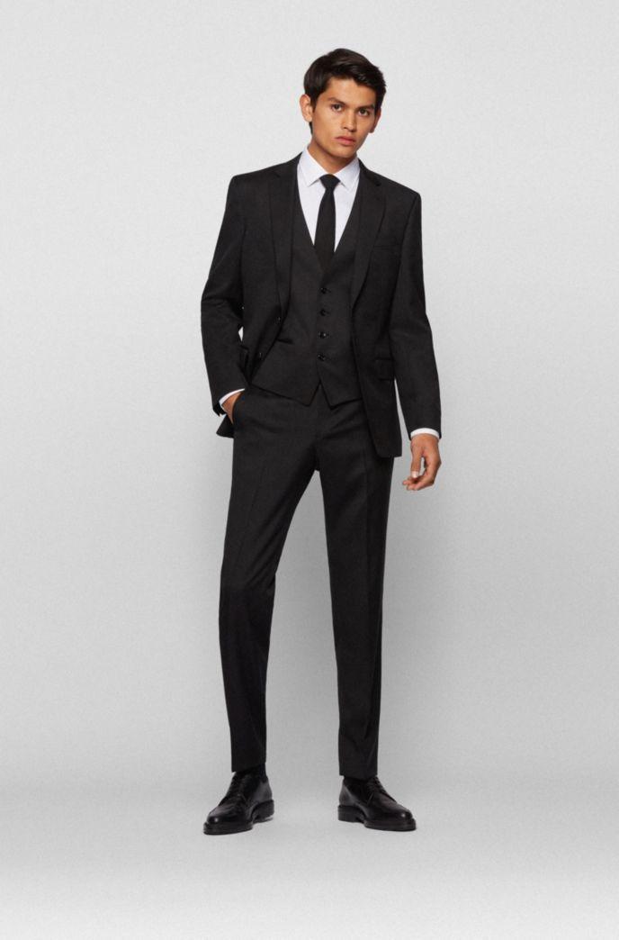 Slim-fit jacket in virgin-wool serge