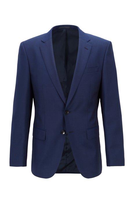 Slim-fit jacket in virgin-wool serge, Blue