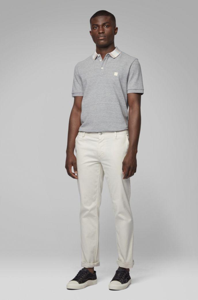 Poloshirt aus Baumwoll-Piqué mit Colour-Block-Kragen