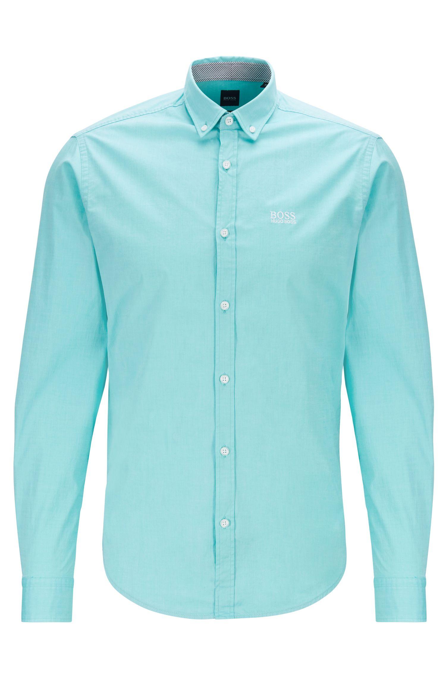 Chemise Regular Fit à col à pointes boutonnées avec gestion de l'humidité, Chaux