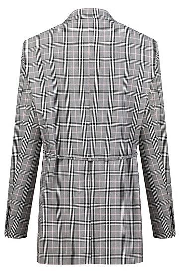 女士商务休闲时尚格纹西装外套,  994_多色