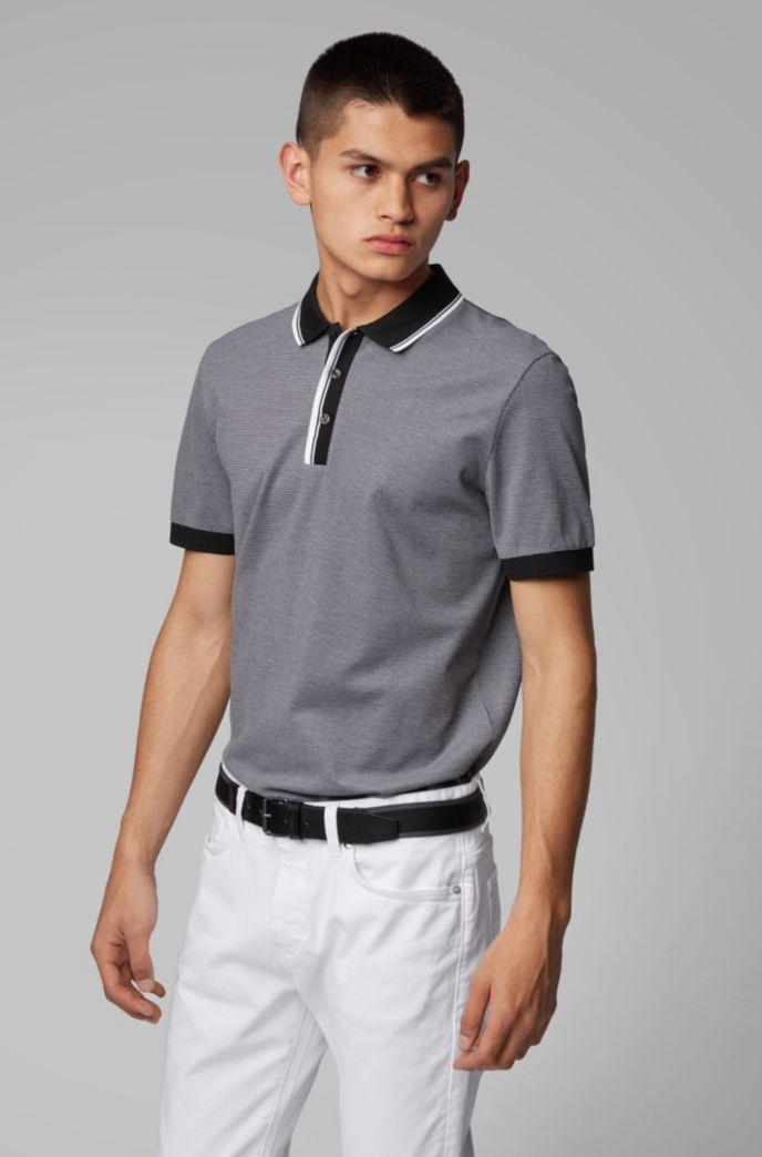 Poloshirt aus Baumwolle mit zweifarbigen Details