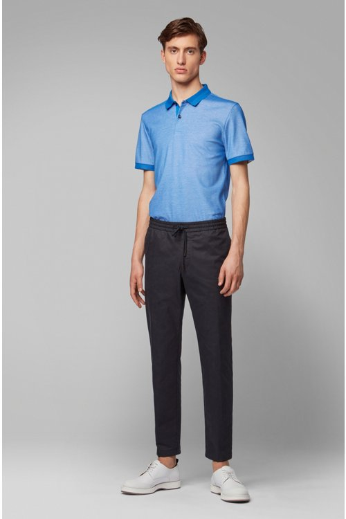Hugo Boss - Slim-fit polo shirt in two-tone honeycomb cotton - 2