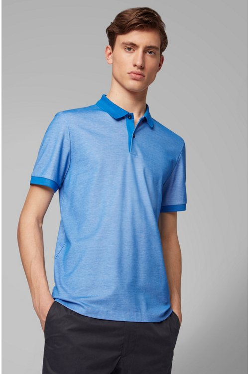 Hugo Boss - Slim-fit polo shirt in two-tone honeycomb cotton - 3