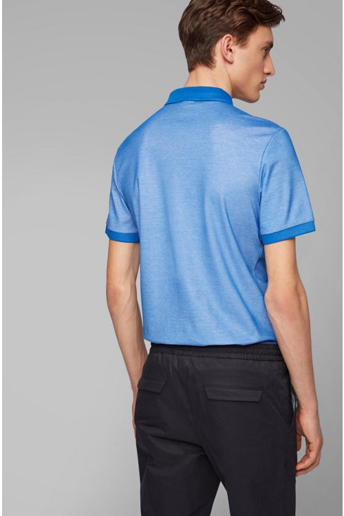 Hugo Boss - Slim-fit polo shirt in two-tone honeycomb cotton - 4