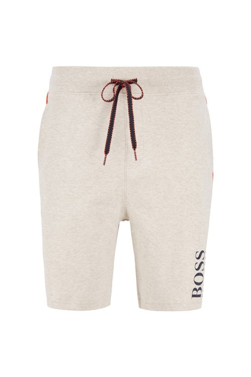 Hugo Boss - Shorts loungewear con logo estampado de doble textura - 1