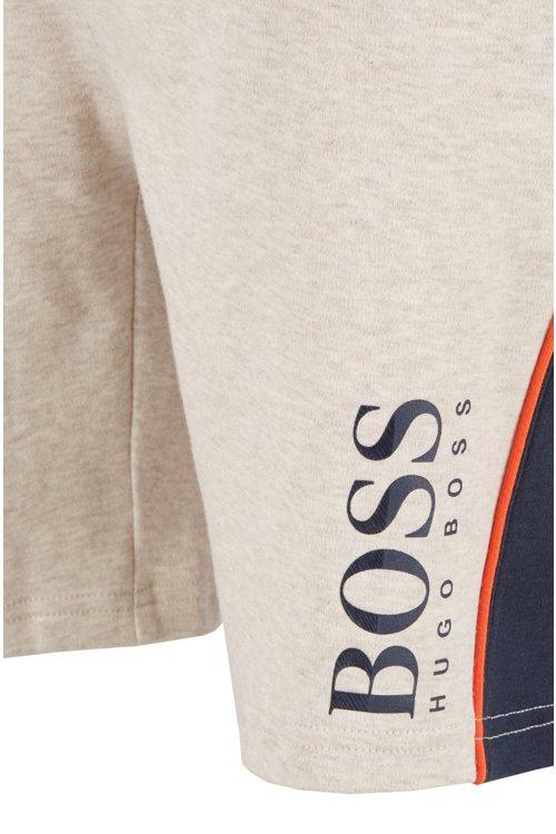 Hugo Boss - Shorts loungewear con logo estampado de doble textura - 2