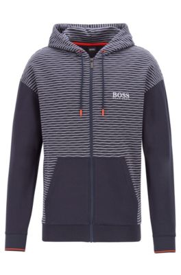 enjoy lowest price quality products browse latest collections Striped jacquard zip-through hoodie with Coolest Comfort finish