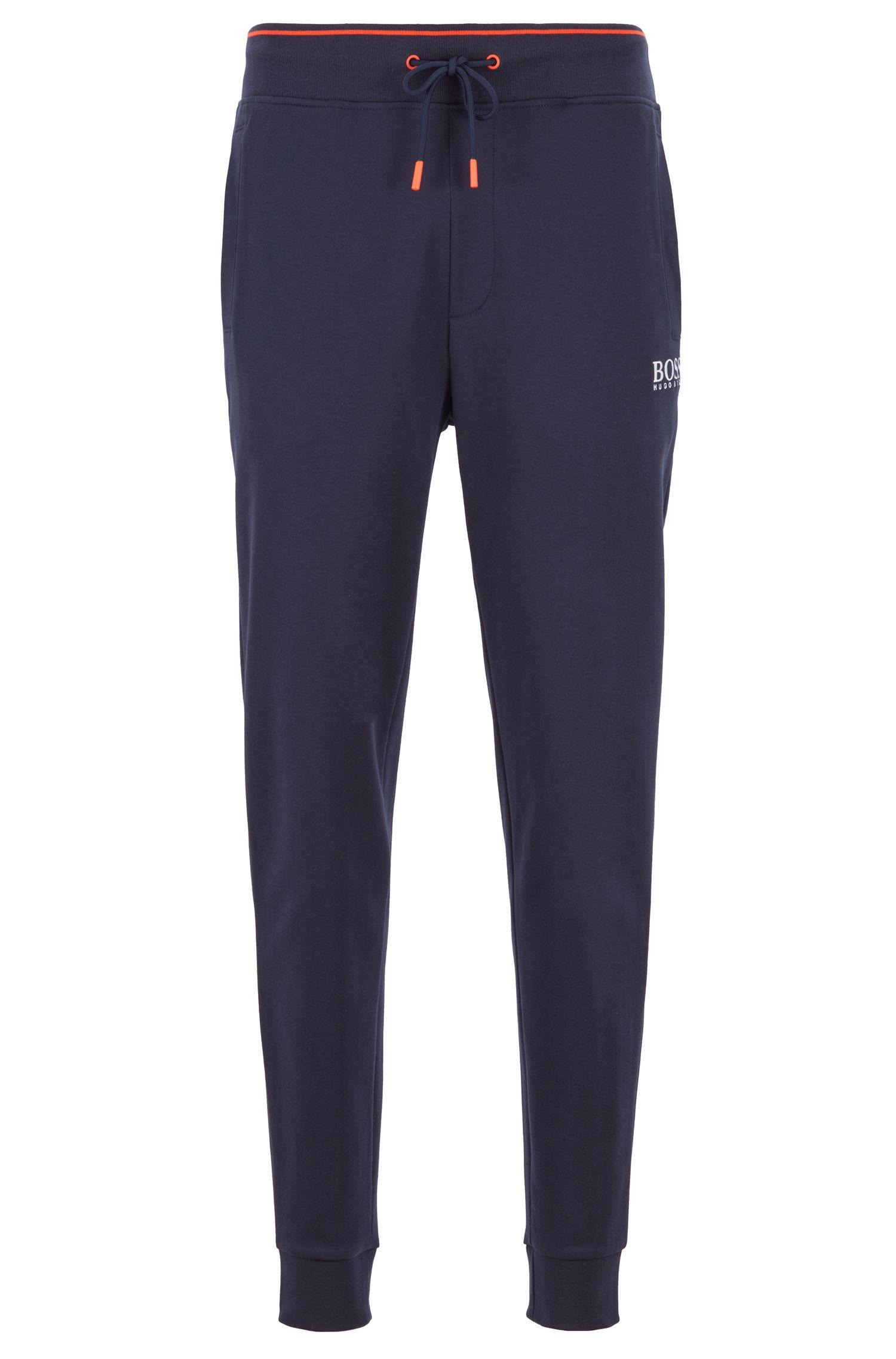 Loungewear-Hose aus Baumwolle mit Coolest-Comfort-Finish und Bündchen, Dunkelblau