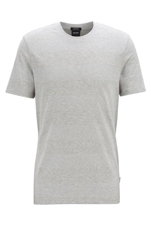 Hugo Boss - T-shirt col rond à rayures, en lin et coton - 1