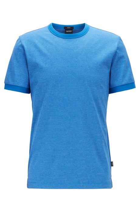 T-shirt Slim Fit en coton mouliné moelleux, Bleu