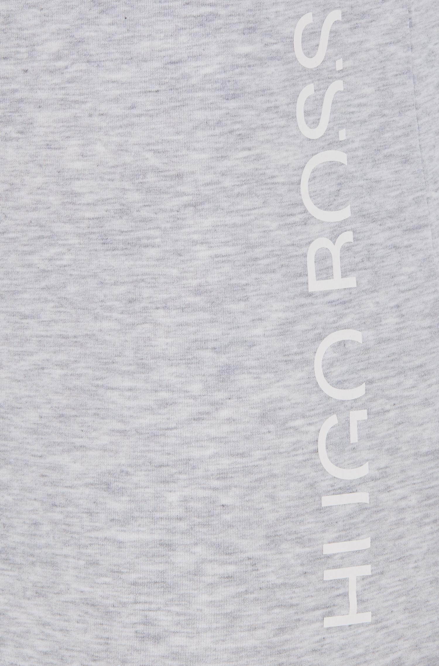 Unterhemd aus Single Jersey mit abgeschnittenem Logo in Kontrastfarbe, Silber