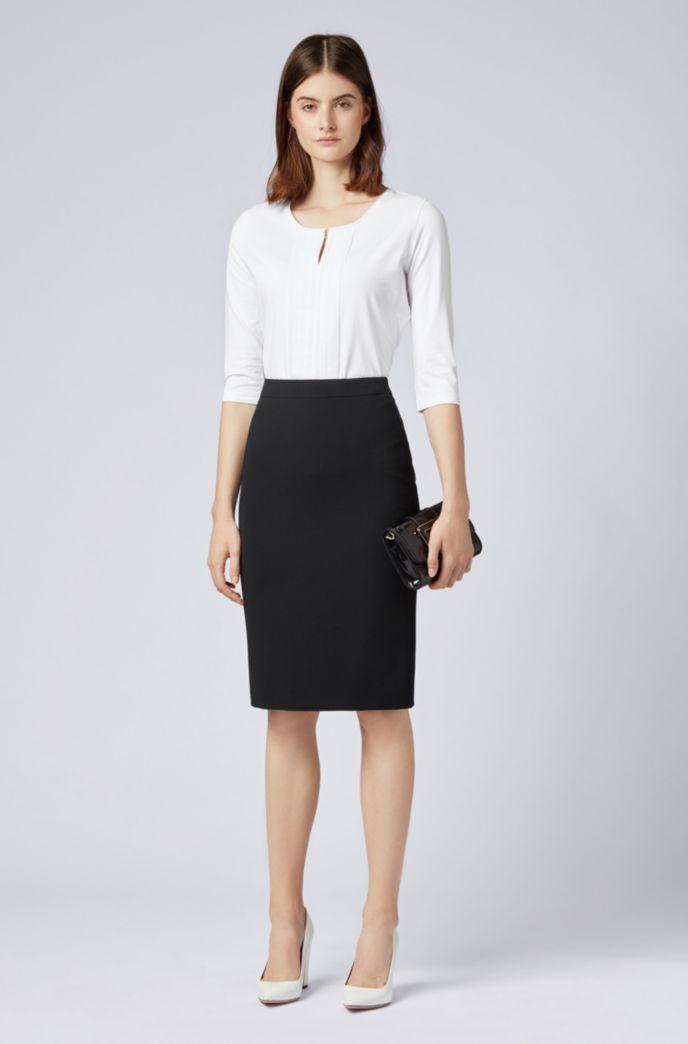 Pencil skirt in crease-resistant Japanese crepe