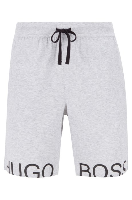 2d25bd49 BOSS - Drawstring pyjama shorts in stretch cotton with foil logo
