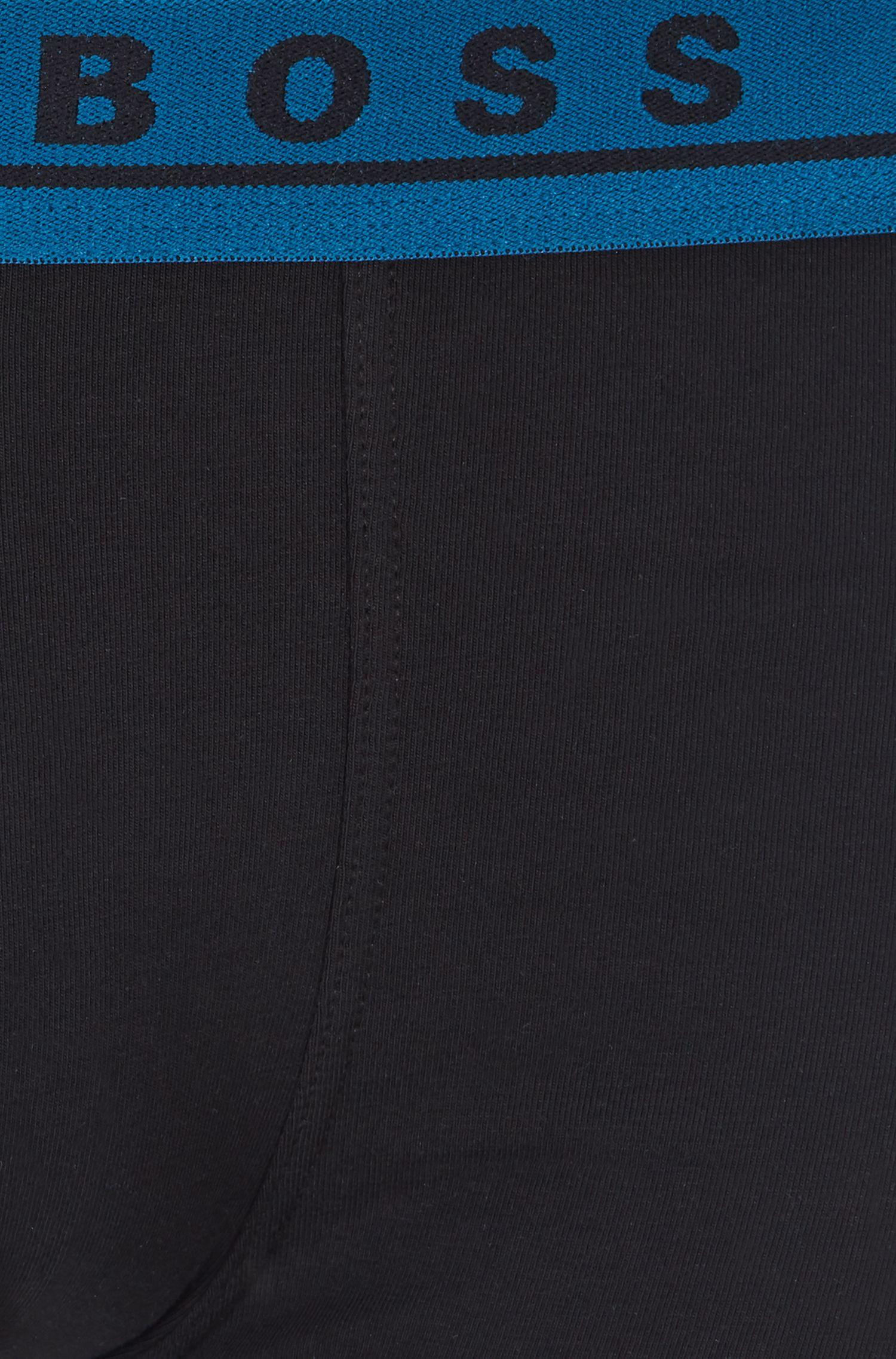 Set van drie boxershorts van stretchkatoen met gekleurde tailleband, Bedrukt